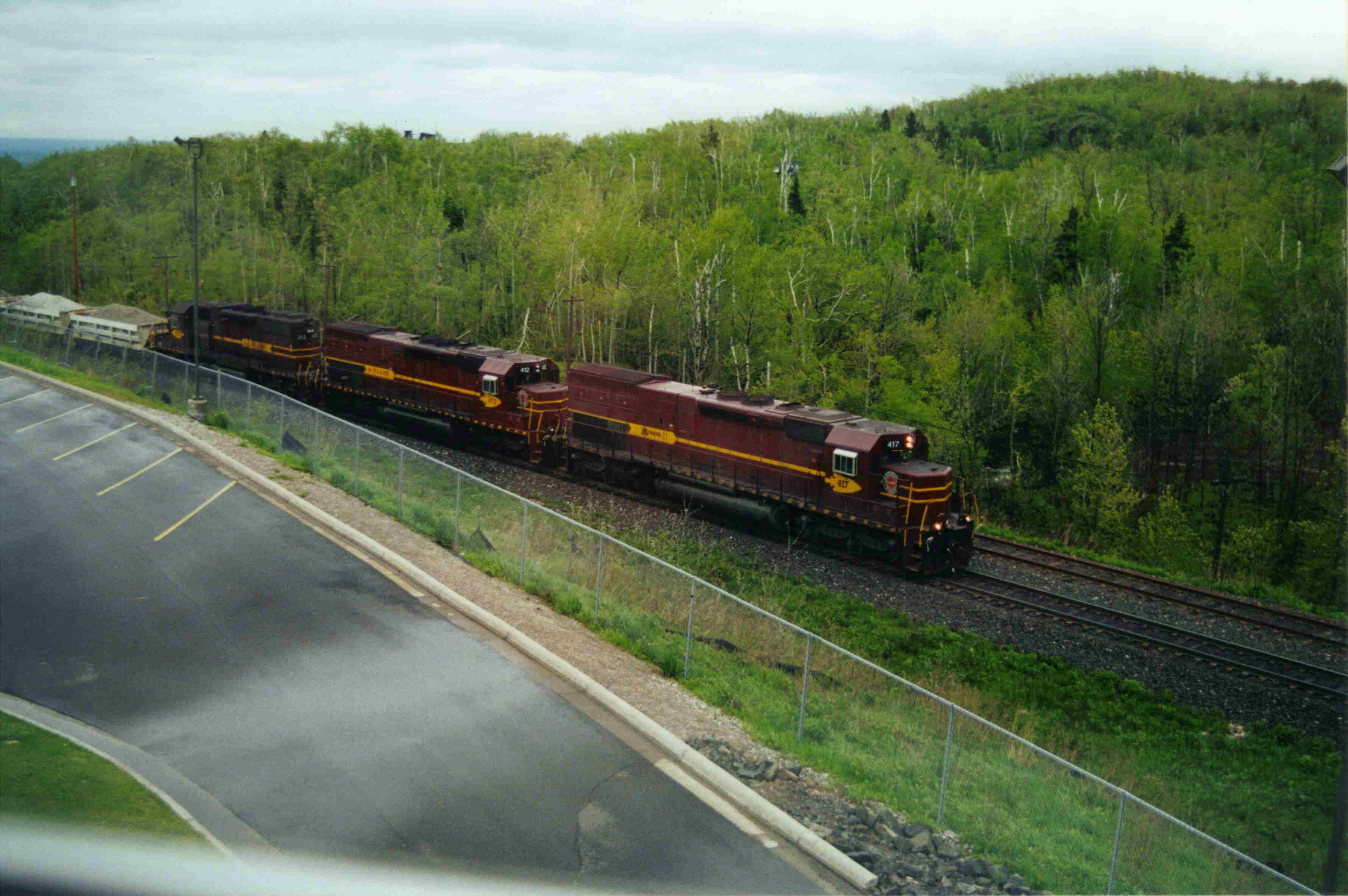 Railroad Past Hotel Canadian National Former Dm Ir Rr Mainline